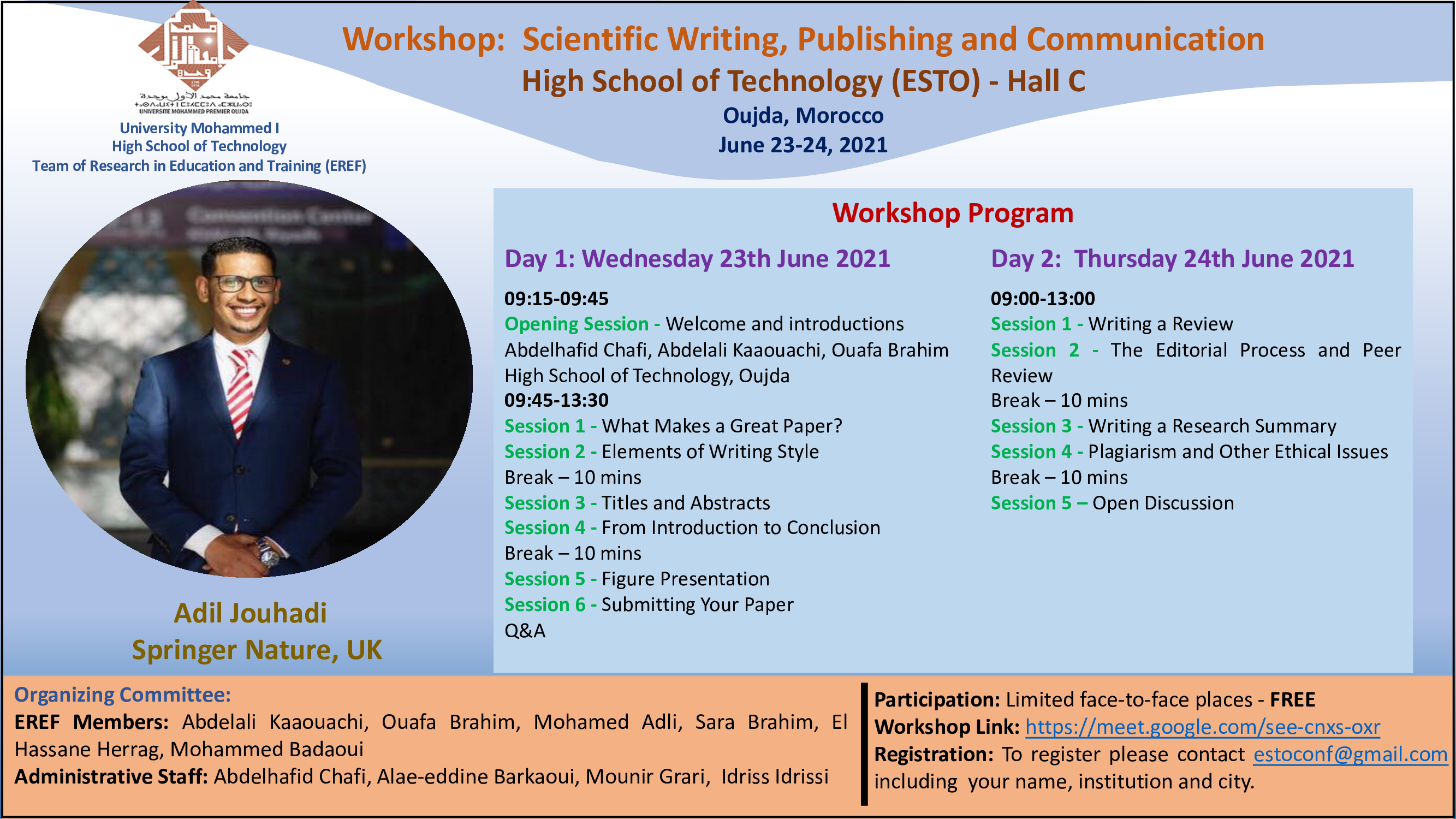 Workshop: Scientific Writing, Publishing and Communication